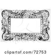Royalty Free RF Clipart Illustration Of A Black And White Elegant Border Frame