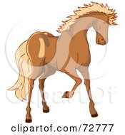 Brown Horse With A Blond Mane