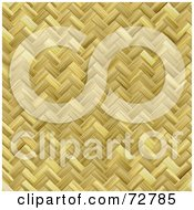 Royalty Free RF Clipart Illustration Of A Woven Basket Weave Texture Background by Arena Creative