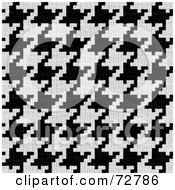 Royalty Free RF Clipart Illustration Of A Black And White Hounds Tooth Fabric Texture Background