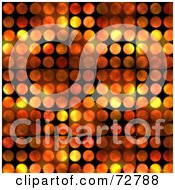 Royalty Free RF Clipart Illustration Of A Background Of Flames Over Black Circles by Arena Creative