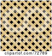 Royalty Free RF Clipart Illustration Of A Wooden Lattice Pattern Background by Arena Creative
