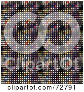 Royalty Free RF Clipart Illustration Of A Colorful Circle Disco Dot Background