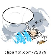 Royalty Free RF Clipart Illustration Of A Woman Thinking While In Slumber