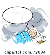 Royalty Free RF Clipart Illustration Of A Man Thinking While In Slumber