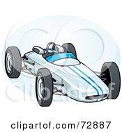 Blue Forumula One Race Car