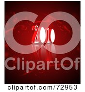 Royalty Free RF Clipart Illustration Of A Red 3d Year 2010 Background by MacX