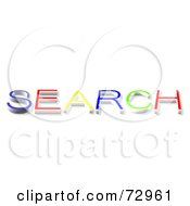 Royalty Free RF Clipart Illustration Of A Colorful SEARCH Word by MacX