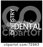 Royalty Free RF Clipart Illustration Of A Word Collage Of Words Dentistry Version 1