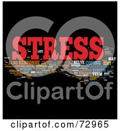 Royalty Free RF Clipart Illustration Of A Word Collage Of Words Stress Version 1