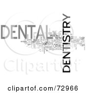 Royalty Free RF Clipart Illustration Of A Word Collage Of Words Dentistry Version 5