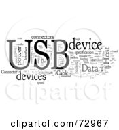 Royalty Free RF Clipart Illustration Of A Word Collage Of Words USB Version 4