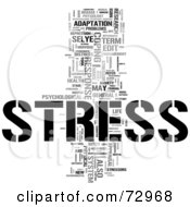Royalty Free RF Clipart Illustration Of A Word Collage Of Words Stress Version 3