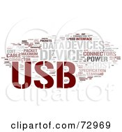 Royalty Free RF Clipart Illustration Of A Word Collage Of Words USB Version 3