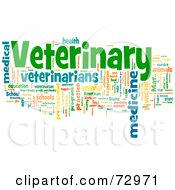 Royalty Free RF Clipart Illustration Of A Word Collage Of Words Veterinary Version 2