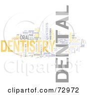 Royalty Free RF Clipart Illustration Of A Word Collage Of Words Dentistry Version 3