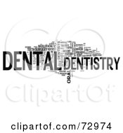 Royalty Free RF Clipart Illustration Of A Word Collage Of Words Dentistry Version 4