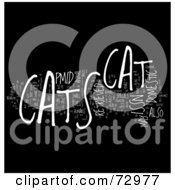 Royalty Free RF Clipart Illustration Of A Word Collage Of Words Cats Version 3