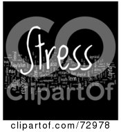 Royalty Free RF Clipart Illustration Of A Word Collage Of Words Stress Version 2