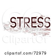 Royalty Free RF Clipart Illustration Of A Word Collage Of Words Stress Version 4