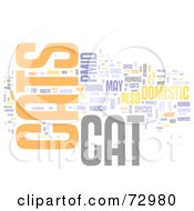 Royalty Free RF Clipart Illustration Of A Word Collage Of Words Cats Version 2