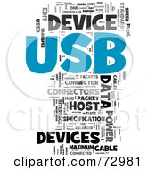 Royalty Free RF Clipart Illustration Of A Word Collage Of Words USB Version 2