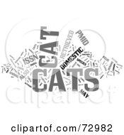 Royalty Free RF Clipart Illustration Of A Word Collage Of Words Cats Version 1