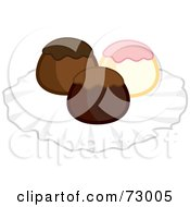 Royalty Free RF Clipart Illustration Of A Truffle Trio by Rosie Piter
