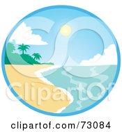 Circular Tropical Beach Sun On A Sunny Day