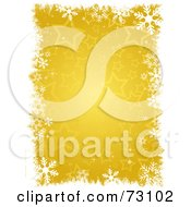 Royalty Free RF Clipart Illustration Of A Golden Christmas Star Background With White Snowflake Grunge