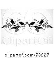 Royalty Free RF Clipart Illustration Of A Black And White Branch Border Design Element by BestVector