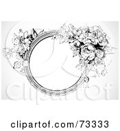 Royalty Free RF Clipart Illustration Of A Black And White Blank Text Box Border Version 9