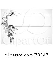 Royalty Free RF Clipart Illustration Of A Black And White Blank Text Box Border Version 8
