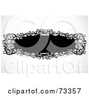 Royalty Free RF Clipart Illustration Of A Black And White Blank Text Box Border Version 11