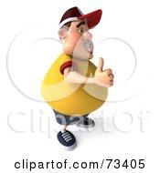 3d Chubby Burger Man Holding His Thumb Up - Version 2