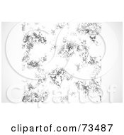 Royalty Free RF Clipart Illustration Of A Black And White Texture Background Version 1 by BestVector