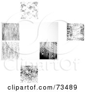 Royalty Free RF Clipart Illustration Of A Digital Collage Of Black And White Texture Backgrounds by BestVector
