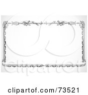Royalty Free RF Clipart Illustration Of A Black And White Sword Border Frame by BestVector