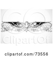 Black And White Intricate Angel Border Design Element