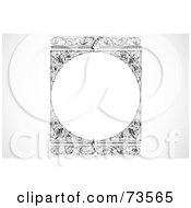 Royalty Free RF Clipart Illustration Of A Black And White Blank Text Box Border Version 24