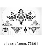 Poster, Art Print Of Digital Collage Of Black And White Floral And Elements