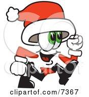 Santa Claus Mascot Cartoon Character Running