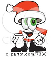 Clipart Picture Of A Santa Claus Mascot Cartoon Character Pointing At The Viewer