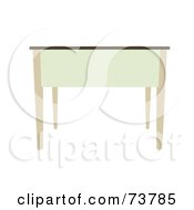 Royalty Free RF Clipart Illustration Of A White And Beige Table Or Desk by JR