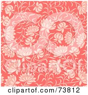 Royalty Free RF Clipart Illustration Of A Seamless Background Of Pink Flowers On Slender Stems by elena