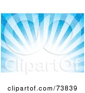 Royalty Free RF Clipart Illustration Of A Bright Blue Burst Of Sunshine With White Light by MilsiArt #COLLC73839-0110