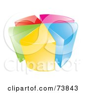 Royalty Free RF Clipart Illustration Of A 3d Vibrant Pie Chart Over White