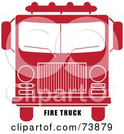 Royalty Free RF Clipart Illustration Of Black Fire Truck Text Under A Red And White Fire Engine by Pams Clipart
