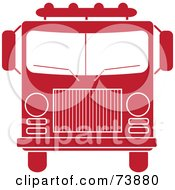 Royalty Free RF Clipart Illustration Of A Red And White Fire Truck by Pams Clipart