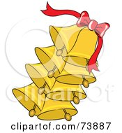 Strand Of Ringing Gold Bells And A Red Ribbon